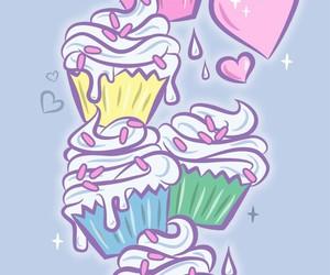 background, cupcake, and cake image