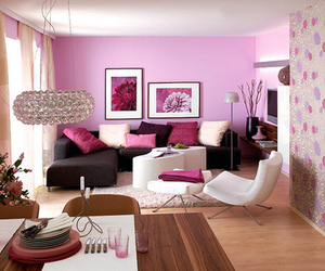 pink, room, and purple image