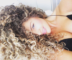 black, curly, and fashion image