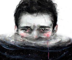 art, boy, and sad image