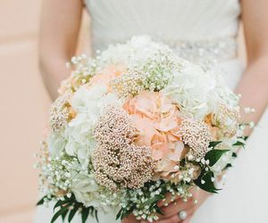 wedding, cute, and bouquet image