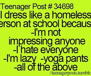 Lazy, homeless, and teenager post image