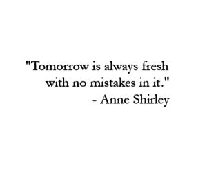 anne shirley, mistakes, and quote image