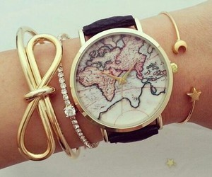 cool, map, and watch image