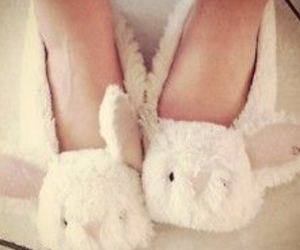 bunny, slippers, and cute image