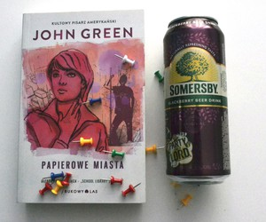 beer, blackberry, and book image