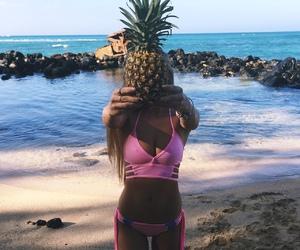 girl, body, and fruit image