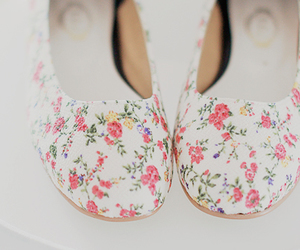 shoes, floral, and pastel image