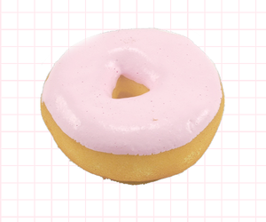 donuts, pink, and grid image