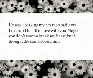 fall in love, heartbreak, and him image