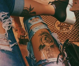 tattoo, fashion, and shoes image