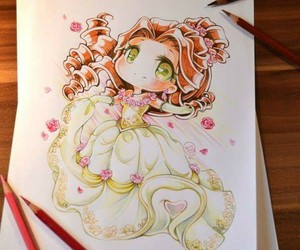 disney, art, and belle image
