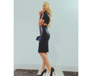 black, shoes, and blonde image
