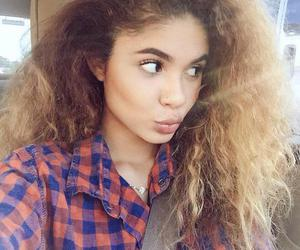 Afro, girl, and long hair image
