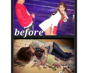 baby, CL, and couple image