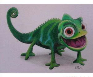 art, chameleon, and drawing image