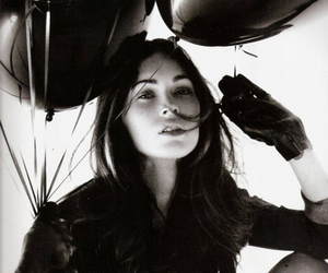 megan fox, beauty, and black and white image
