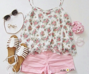 outfit, clothes, and floral image
