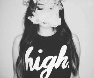 girl, smoke, and high image