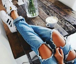 adidas, coffee, and outfit image