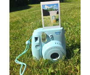 blue, inspo, and polaroid image