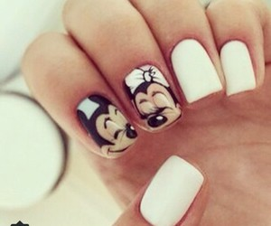 nails, white, and love image