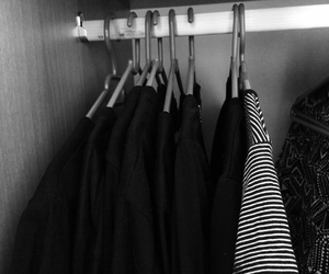 black, closet, and clothes image