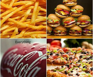 fries and pizza image