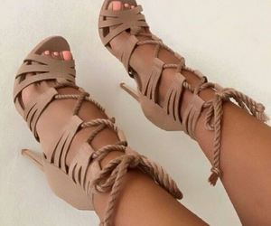 brown, cool, and high heels image