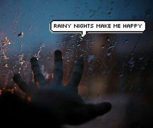 grunge, night, and rain image