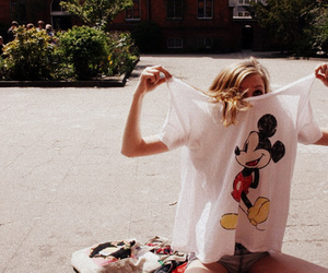 blonde, street, and disney image