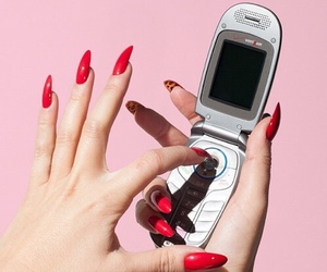 pink, red, and nails image