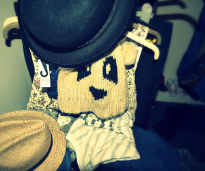 beanie, bear hat, and love image