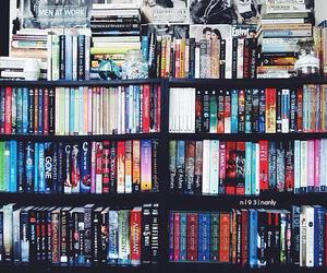 books, bookshelf, and young adult image