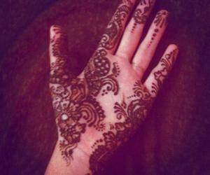 arabic, henna, and black image
