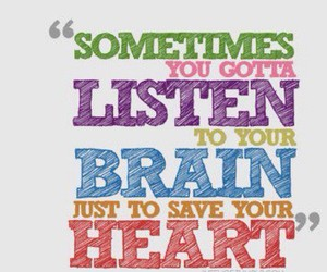quote, heart, and brain image