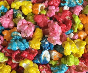 colors, candy, and popcorn image