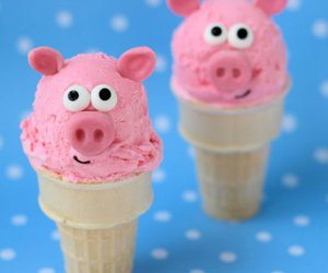 food, ice cream, and pigs image