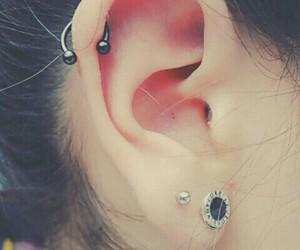 piercing, ear, and bvlgari image