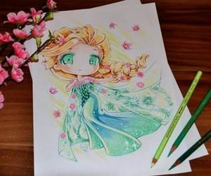 art, disney, and drawing image