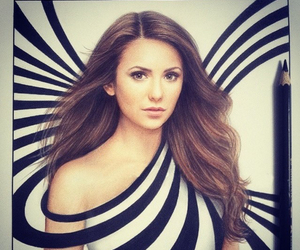 Nina Dobrev, drawing, and artistiq image