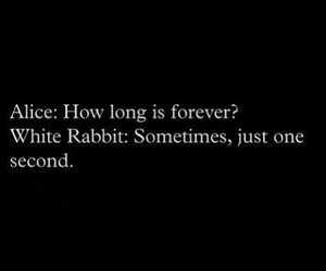 quote, alice, and forever image