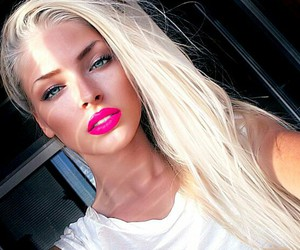 girl, blonde, and beautiful image