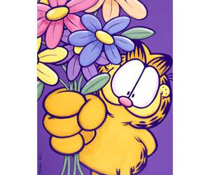 cat, pink, and flower image