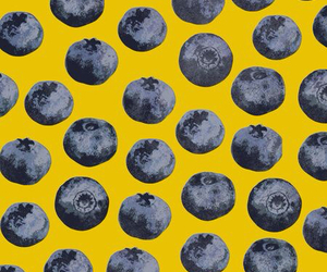 background, blueberry, and yellow image
