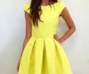 fashion, yellow dress, and bless this mess image