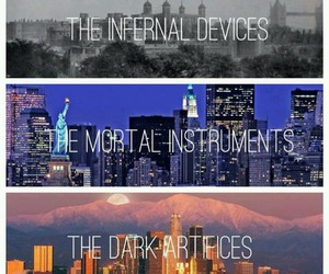 the mortal instruments, the infernal devices, and the dark artifices image