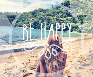 summer, wallpaper, and be happy image