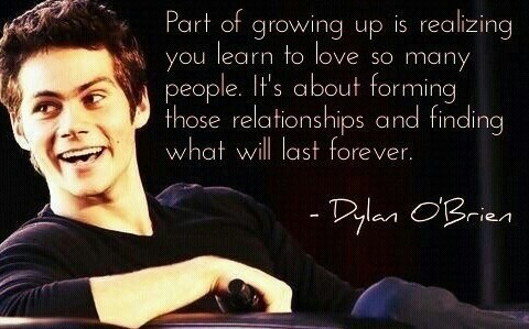 Image about quote in Dylan O\'brien by Valery on We Heart It