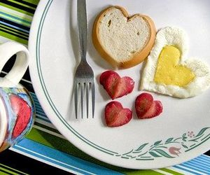 breakfast, food, and heart image